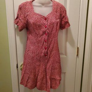 Vintage New York Style Red & White Floral Romper